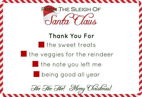Thank You Letter Template To Santa Santa S Stationery Free Printable Average But Inspired