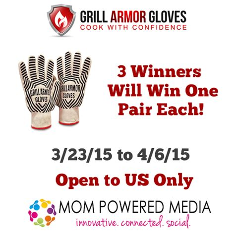 Armour Great Moms Sweepstakes - grill armor gloves sweepstakes 3 winners 4 6