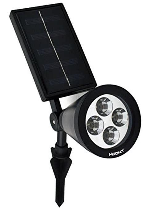 solar spot lights amazon hoont solar powered outdoor led spotlight black import