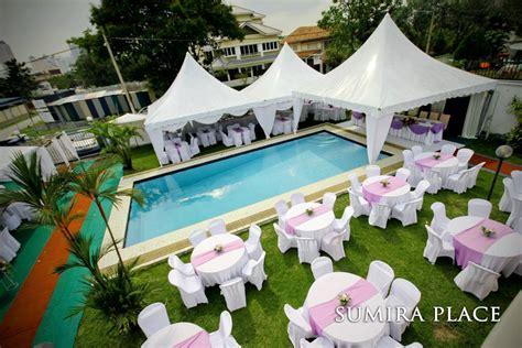 Pool Wedding Decoration Ideas by Poolside Wedding Reception