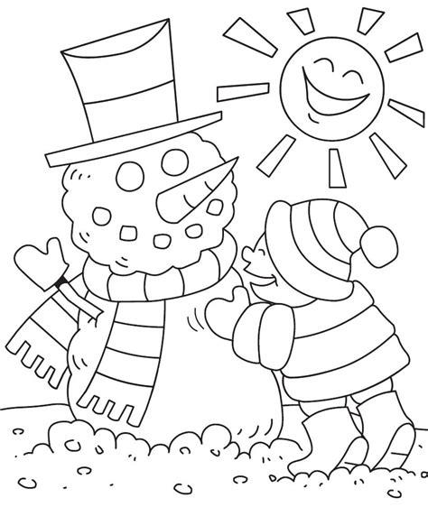 winter coloring pages pdf preschool bilingual project winter coloring page