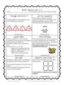 math brain teasers worksheet matching objects brain