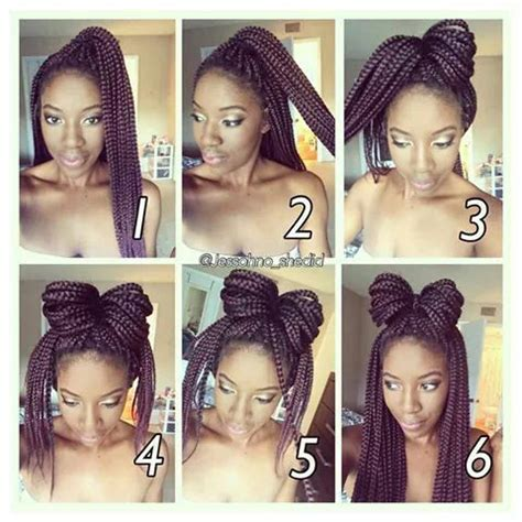 how do i look with different hair 10 ways to style your box braids this winter black girl