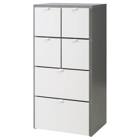 30 cm tiefer schrank visthus chest of 6 drawers grey white 63x126 cm ikea