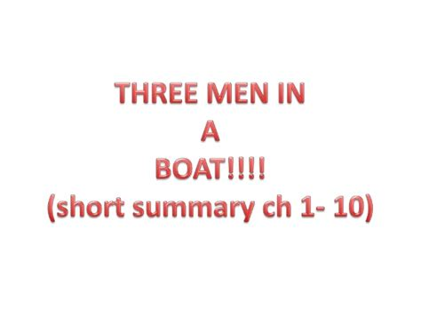 summary of novel three man in the boat in english three men in a boat 1 10 chapter