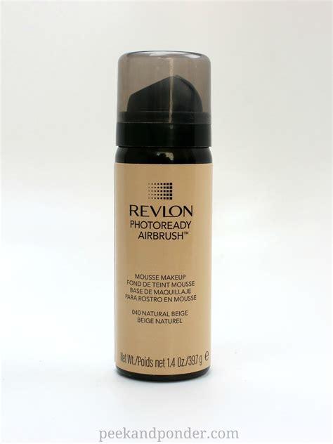 Revlon Airbrush Foundation revlon photoready airbrush review peek ponder