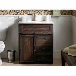 Bathroom Barn Door Style Selections 30 In Morriston Barn Door Brown Bathroom