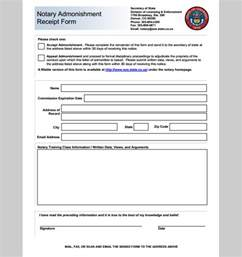 Notary Template by Receipt Template For Notary Template Notary Receipt