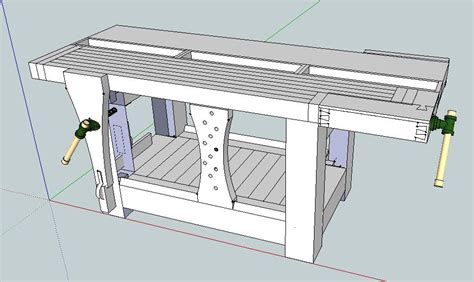 free sketchup woodworking plans workbench plans sketchup pdf woodworking