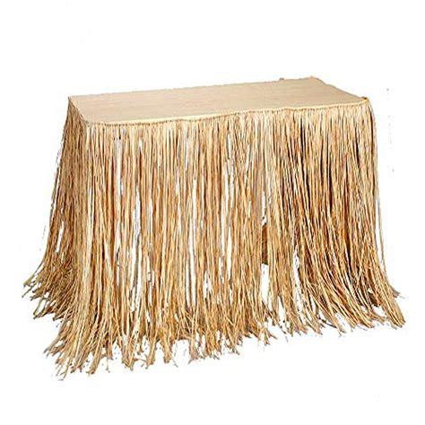Grass Table Skirts by 100 Tropical Islander Raffia Grass Table Skirt Decor Home Garden Linens Bedding