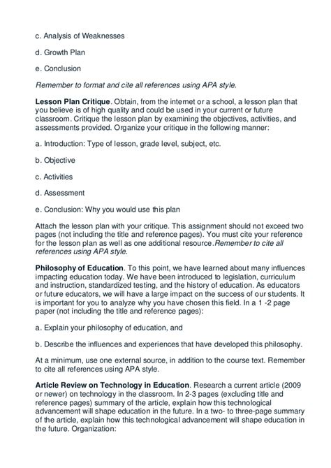 apa format lesson plan ashford edu 623 entire course introduction to teaching