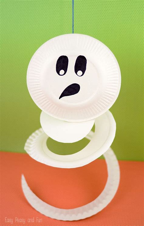 paper plate ghost craft paper plate ghost paper plate crafts for paper