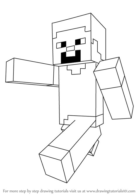 doodle draw minecraft learn how to draw steve from minecraft minecraft step by