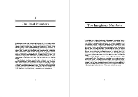 book layout chapter headings sectioning how to format the chapter heading tex