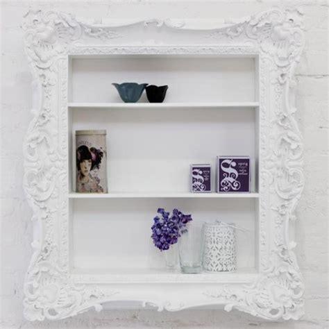 ruffle frame shelf modern display and wall shelves