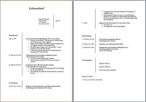 Lebenslauf Muster Pages Lebenslauf Muster Calendar Page