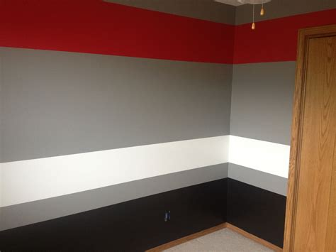 painting a room red painted room grey red white black rooms pinterest