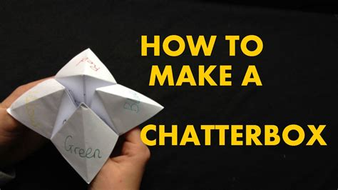 How To Make A Chatterbox Out Of Paper - how to make a chatterbox fortune teller