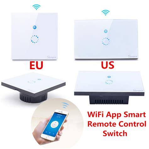 Wifi Smart us eu touch wifi smart swtich phone wireless wall glass panel led light sonoff ebay