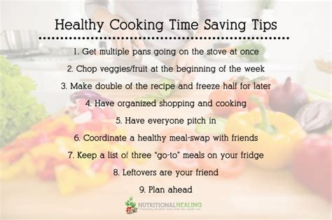 Healthy Kitchen Tips by Healthy Cooking Time Saving Tips Nutritional Healing