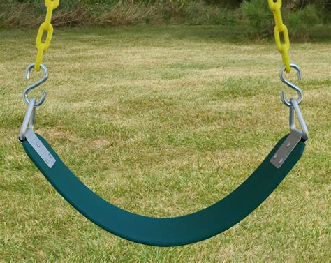 swing seat commercial belt swing with 8 6 quot heavy duty chain