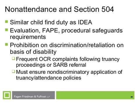 section 504 procedural safeguards ses fall 2013 nonattendance