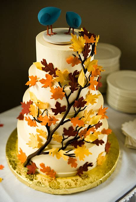 Fall Wedding Cakes by Wedding Inspiration Center Fall Wedding Cake With Nature