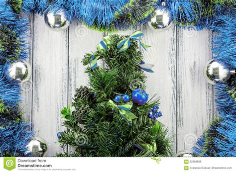 blue green and silver decorations new year theme tree with blue and green