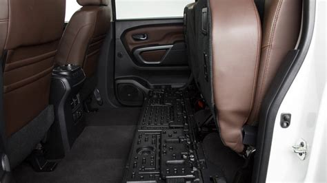 nissan titan seat cover removal 2017 nissan titan folding the rear seat if so equipped