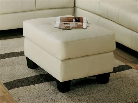 ottomans home collection samuel collection ottoman 501694 leather ottomans