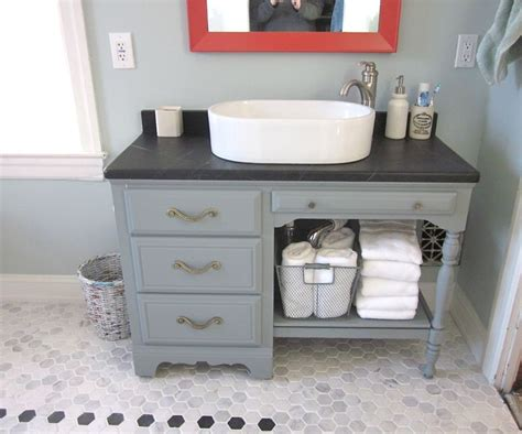 soapstone bathroom vanity upcycled desk as vanity soapstone top turquoise and