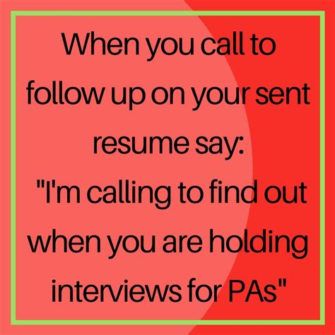 how to follow up on a sent resume robyn coburn r 233 sum 233 review