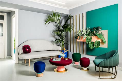 colorful interior design trendy colourful office design by masquespacio italianbark