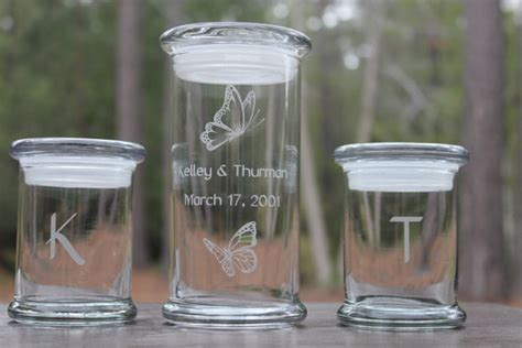 Wedding Sand Ceremony Vases With Lids Five Piece Sand Ceremony Set Center Jar With 4 Pouring Vases