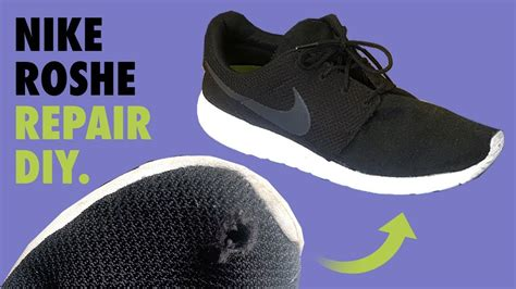 nike roshe mesh hole repair fix diy youtube