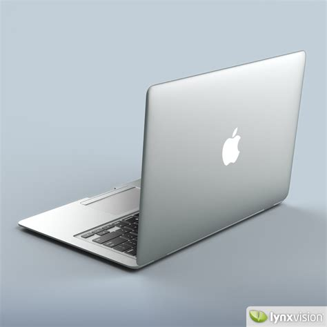 Notebook Apple Macbook Air Md711za A apple macbook air notebook 3d model max obj fbx mtl