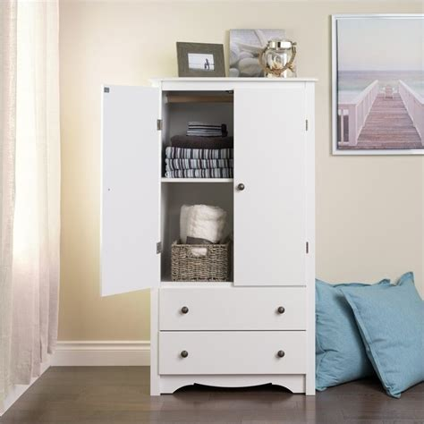 White Wardrobe Armoire by Prepac Monterey White Wardrobe Tv Armoire Ebay