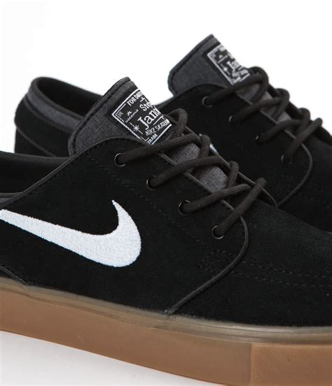 Nike Sb Stefan Janoski Hitam nike sb stefan janoski shoes black white gum light brown flatspot