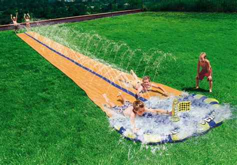 backyard waterslides 16 things to do in the backyard this summer capital deck