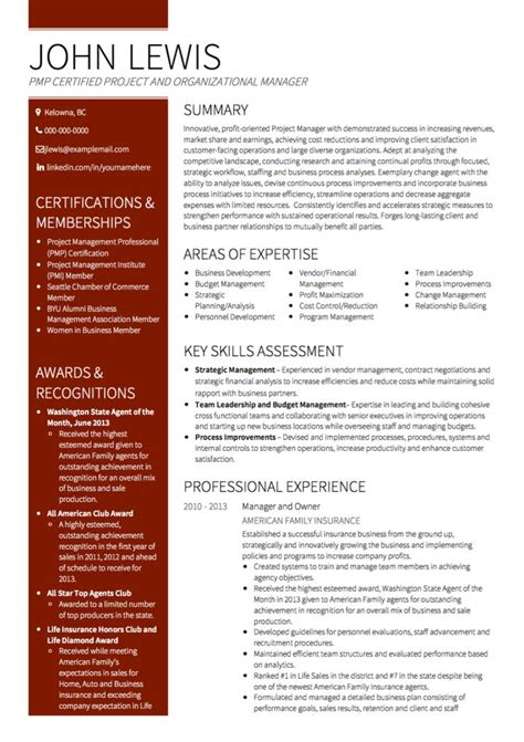 Project Manager Cv Exles Templates Visualcv Manager Resume Template