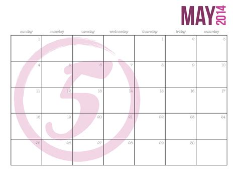 printable calendar 2014 may 7 best images of 2014 printable calendar simple april