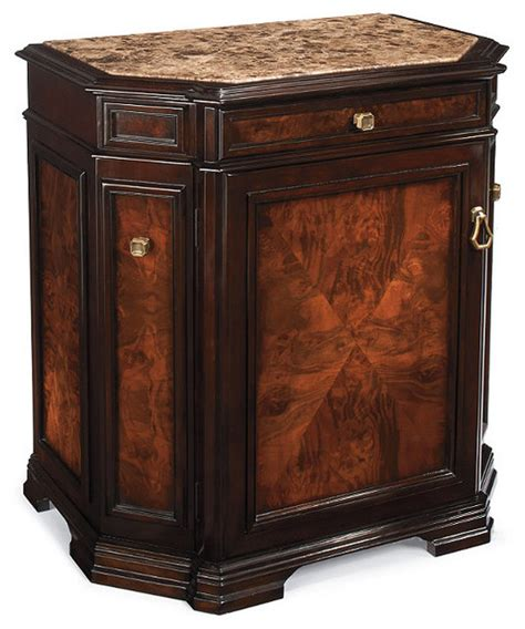 Bar Cabinet Furniture by Newport Mini Bar Single Door Cabinet Traditional Wine