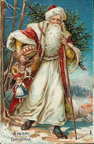 vintage christmassanta claus postcard flickr photo sharing