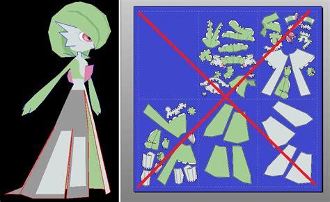 Gardevoir Papercraft - gardevoir papercraft unfold by javierini on deviantart