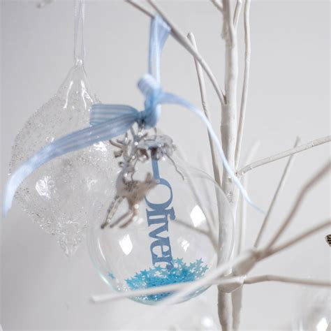 personalised papercut baby s first christmas bauble