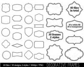 border clip art clipart digital frame label clipart tags