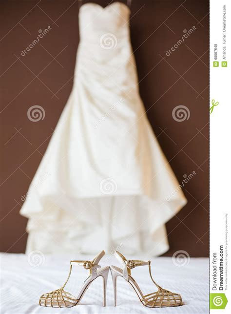 Wedding Shoes Ivory Dress by Wedding Shoes And Wedding Dress Stock Photo Image 65507648