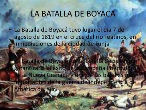 Resumen 7 De Agosto by La Batalla De Boyaca