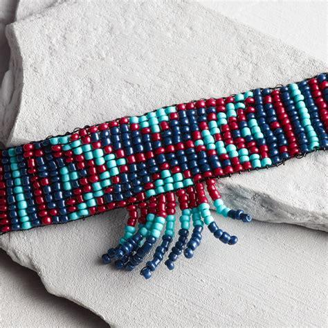 Bead Choker blue seed bead choker necklace world market