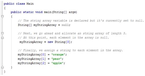 How To Create String - java string array understanding different aspects of